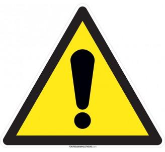 Panneau Danger avec logo, forme triangulaire