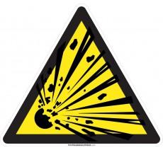 Panneau Matières explosives , forme triangulaire