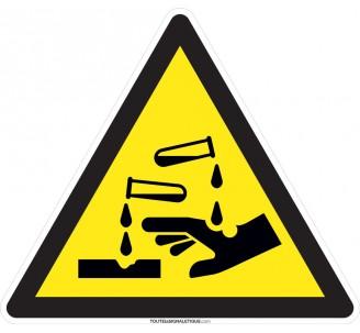 Panneau Produits chimiques , forme triangulaire