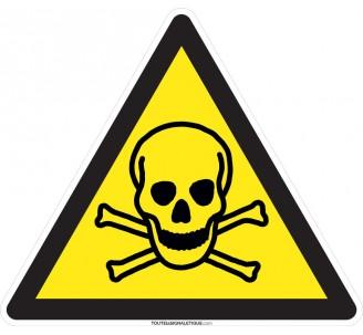 Panneau Danger de mort , forme triangulaire