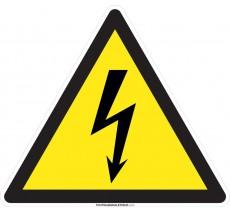 Panneau Danger électrique , forme triangulaire