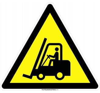 Panneau Danger, chariot élévateur , forme triangulaire