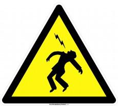 Panneau Danger électrocution , forme triangulaire