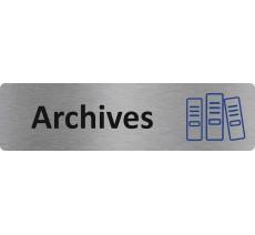 """Plaque de porte économique """" Archives """""""