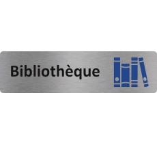 """Plaque de porte économique """" Bibliothèque """""""