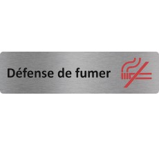 "Plaque de porte standard en alu "" Défense de fumer """