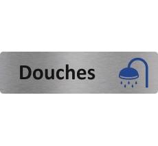 """Plaque de porte standard en alu """" Douches """""""