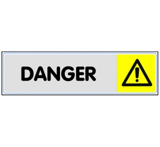 Plaque de porte plexi couleur Danger