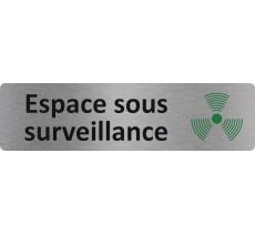 """Plaque de porte standard en alu """" Espace sous surveillance """""""