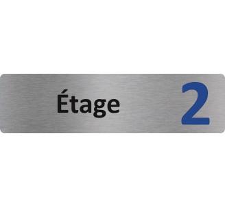 """Plaque de porte économique """" Etage 2 """""""