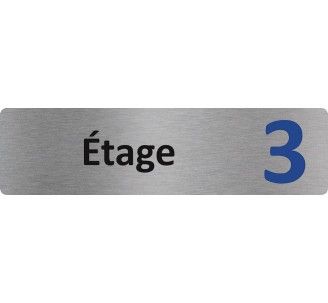 """Plaque de porte économique """" Etage 3 """""""