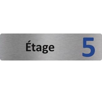 """Plaque de porte économique """" Etage 5 """""""