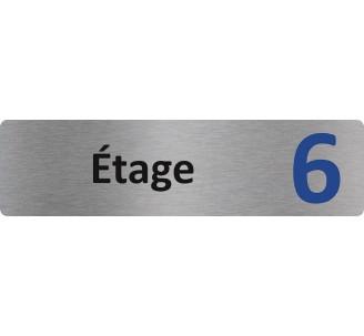 """Plaque de porte économique """" Etage 6 """""""