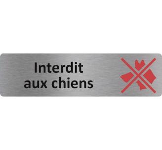 """Plaque de porte économique """" Interdit aux chiens """""""