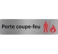 """Plaque de porte standard en alu """" Porte-coupe-feu """""""