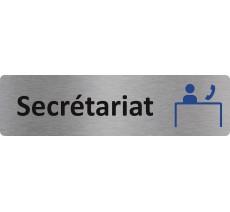 "Plaque de porte standard en alu "" Secrétariat """