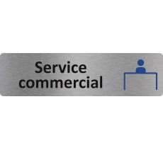 "Plaque de porte standard en alu "" Service commercial """