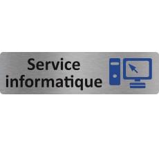 "Plaque de porte standard en alu "" Service informatique """