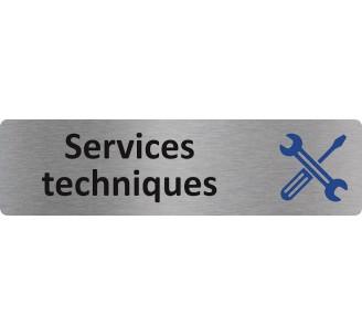 """Plaque de porte économique """" Services techniques """""""