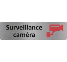 "Plaque de porte standard en alu "" Surveillance caméra """
