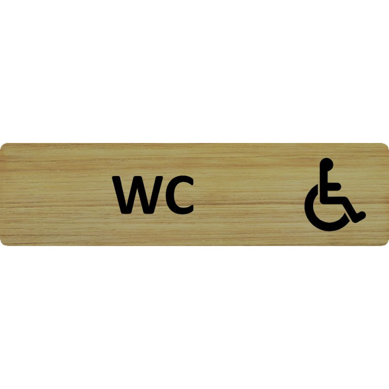 Plaque porte standard format 45x170mm wc handicap for Porte handicape
