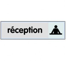 Plaque de porte plexi argent réception