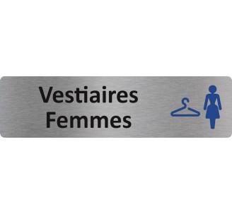 """Plaque de porte économique """" Vestiaires femmes """""""