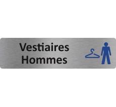 """Plaque de porte standard en alu """" Vestiaires Hommes """""""
