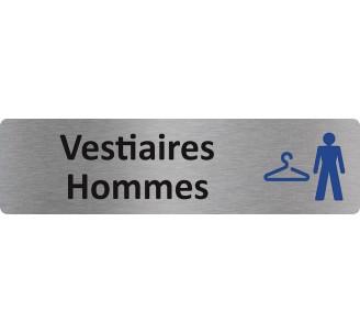 """Plaque de porte économique """" Vestiaires hommes """""""