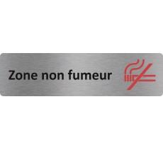 "Plaque de porte standard en alu "" Zone non fumeur """