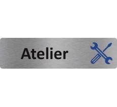 "Plaque de porte standard en alu "" Atelier """