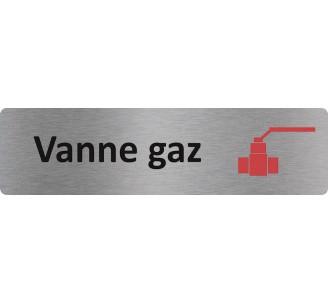 """Plaque de porte économique """" Vanne gaz """""""
