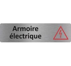 """Plaque de porte standard en alu """" Armoire électrique """""""
