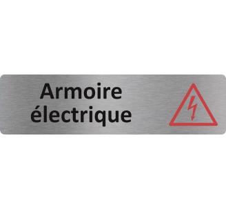 Plaque Porte Standard Format 45x170mm Armoire Electrique
