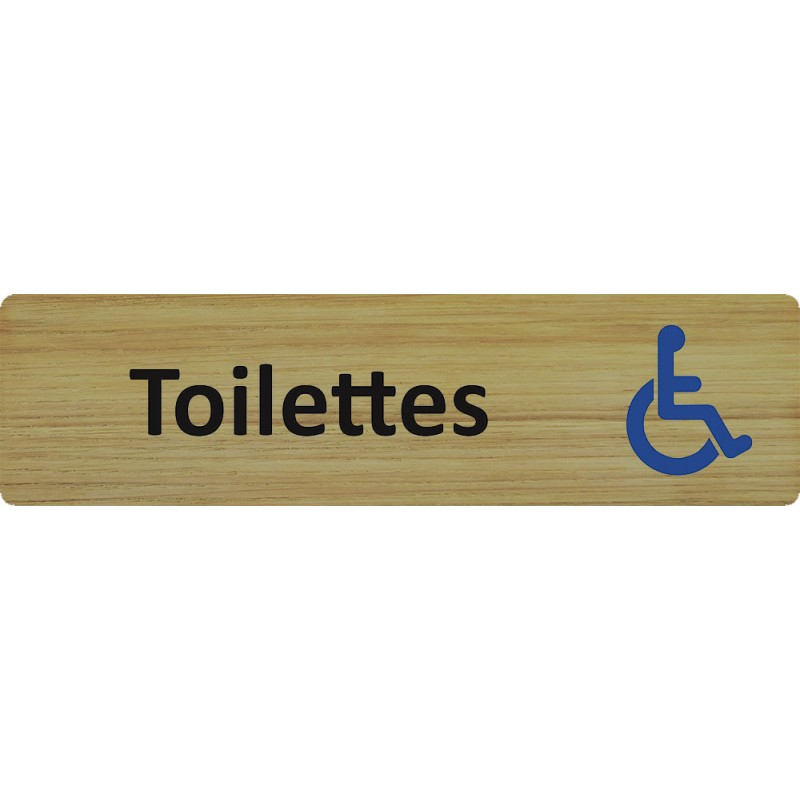 plaque porte standard format 45x170mm toilettes handicap. Black Bedroom Furniture Sets. Home Design Ideas