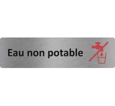 """Plaque de porte standard en alu """" Eau non potable """""""