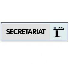 Plaque de porte plexi argent secrétariat