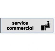 Plaque de porte plexi argent service commercial