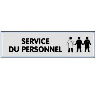 Plaque de porte plexi argent service du personnel