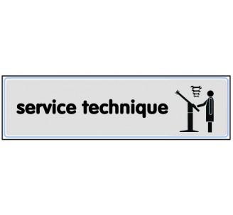 Plaque de porte plexi argent service technique