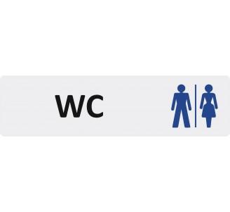 """Plaque de porte économique """" WC mixtes """""""