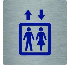 """Pictogramme économique en alu """" Ascenseur """""""