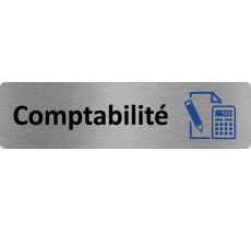 "Plaque de porte standard en alu "" Comptabilité """