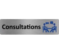 """Plaque de porte économique """" Consultations """""""