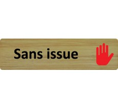 "Plaque de porte standard en bois "" Sans issue """