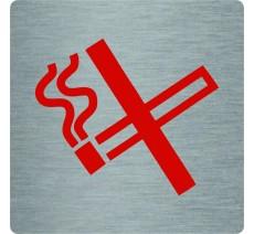 """Pictogramme économique en alu """" Défense de fumer """""""