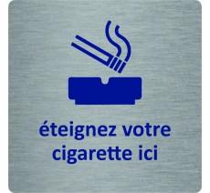 """Pictogramme économique en alu """" Eteignez votre cigarette ici """""""