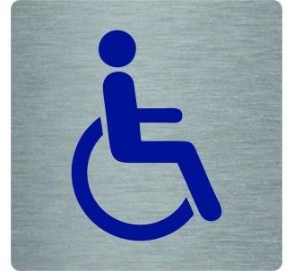 """Pictogramme économique en alu """" Toilettes handicapé """""""