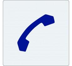 """Pictogramme économique en alu """" Téléphone"""""""