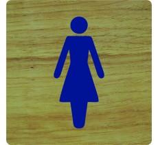 """Pictogramme économique en alu """" Toilettes femme """""""